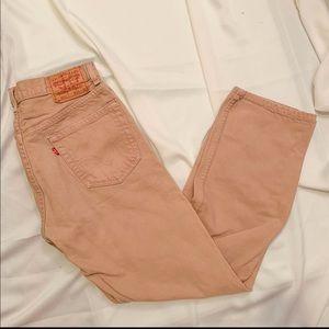 vintage Levi's mustard regular fit jeans 505
